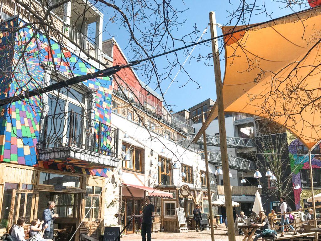 Hyggeligt område i Berlin