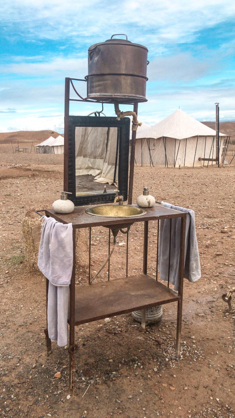 Agafay Scarabeo camp interiør