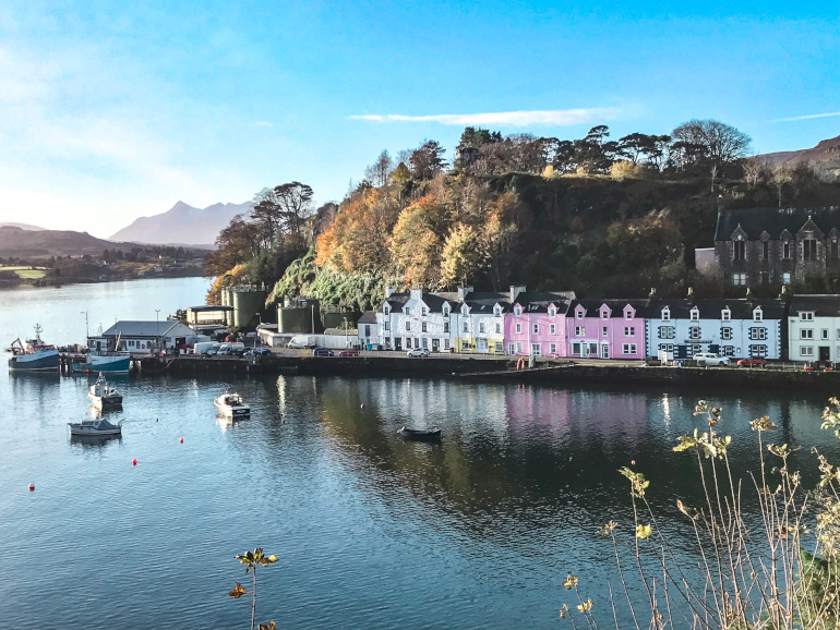 Farvede huse i Portree