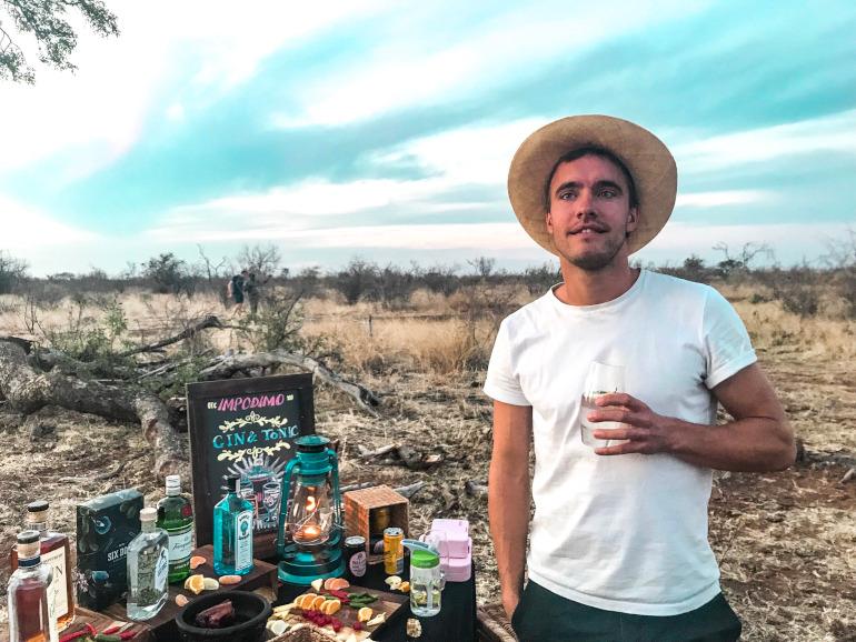 Gin og tonic aften safari