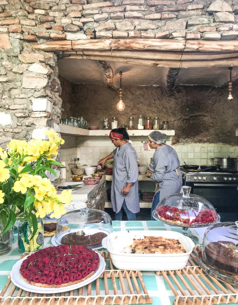 La Famille frokost i Marrakech