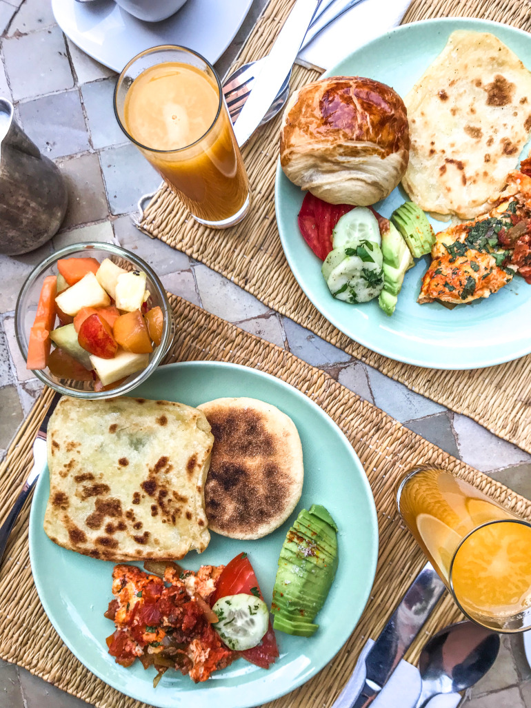 Morgenmad Kasbah Bab Ourika