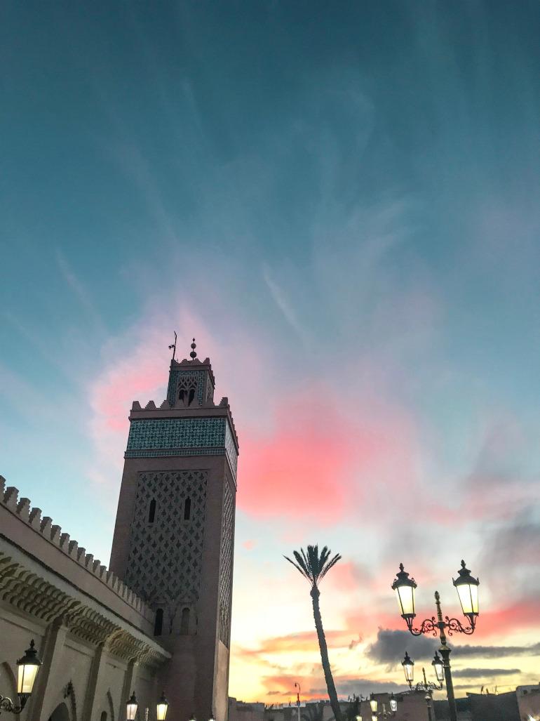 Solnedgang i Marrakech